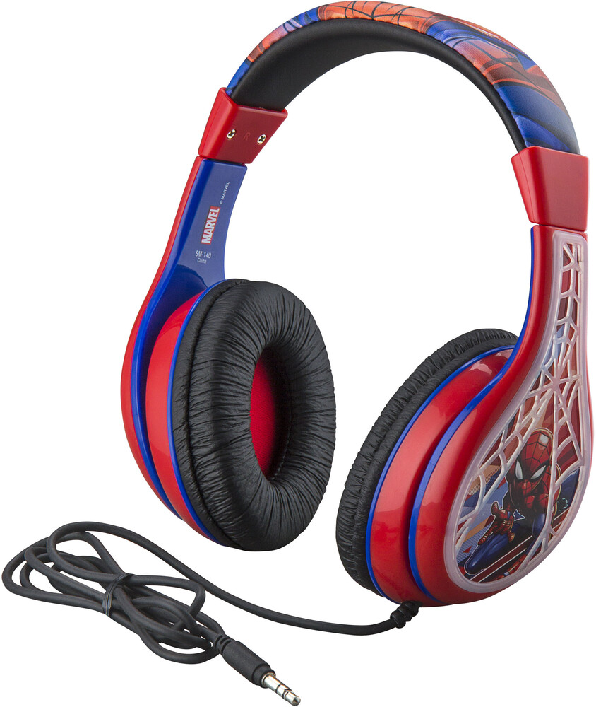 Spiderman Sm-140.Exv0I Youth Headphones Red/Blue - Spiderman SM-140.EXV0I Youth Headphones With Volume Limiting(Red/Blue)