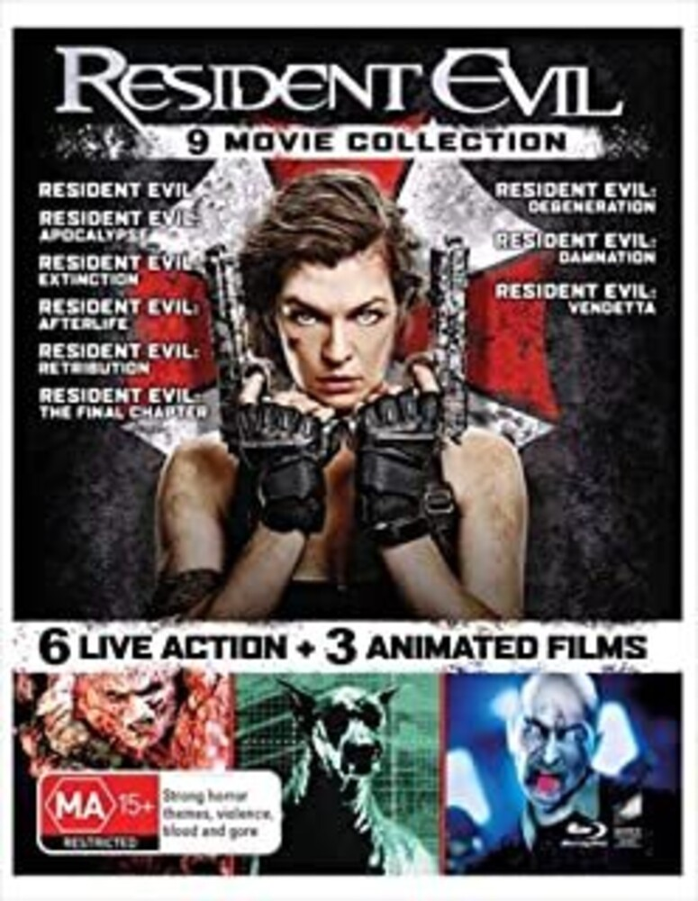 - Resident Evil: The Complete 9 Film Collection