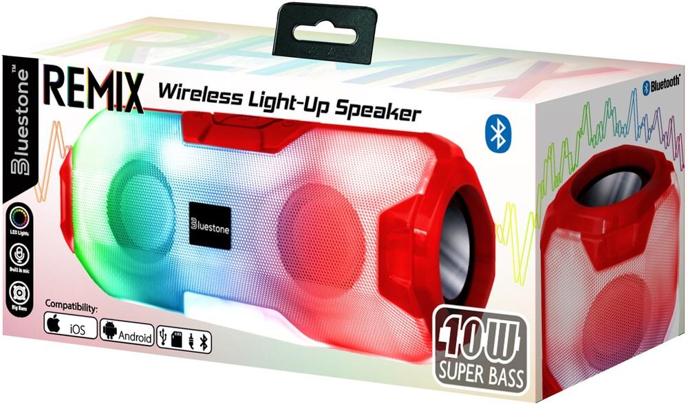 Bluestone Sb2rd Remix Bt 10W Led Speaker Red - Bluestone Sb2rd Remix Bt 10w Led Speaker Red
