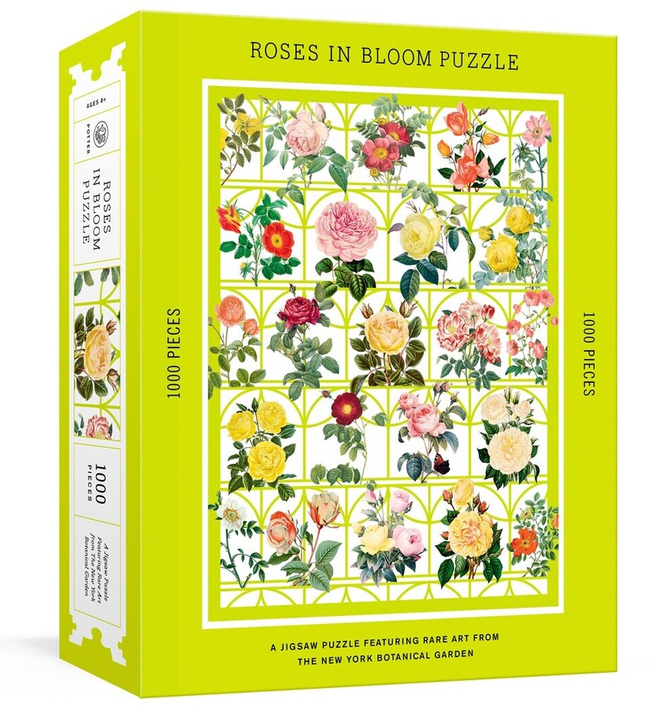 - Roses in Bloom Puzzle: A 1000-Piece Jigsaw Puzzle Featuring Rare Artfrom the New York Botanical Garden