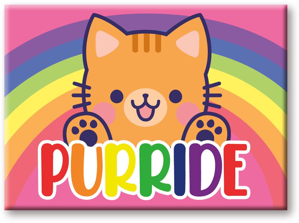 Pride Purride 2.5 X 3.5 Flat Magnet - Pride Purride 2.5 x 3.5 Flat Magnet