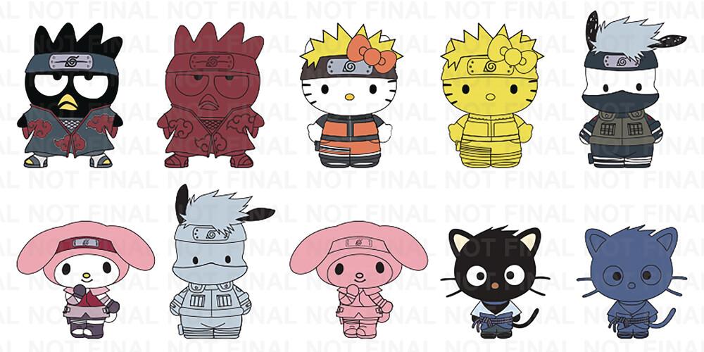 - NECA - Naruto x Hello Kitty Enamel Pins 20 Piece BMB DS