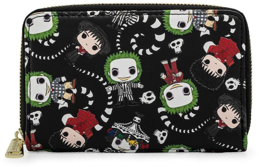 Loungefly Beetlejuice: - All Over Print Zip Around Wallet (Wal)