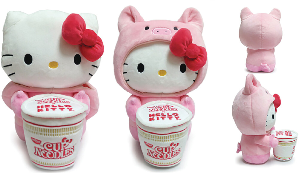 - NECA - Hello Kitty X Nissin Cup Noodle 16 Plush Pork Cup