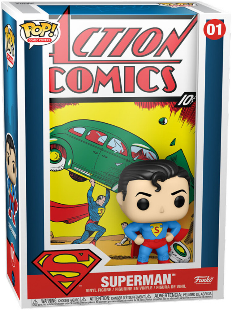 Funko Pop! Vinyl Comic Cover: - FUNKO POP! VINYL COMIC COVER: DC- Superman Action Comic