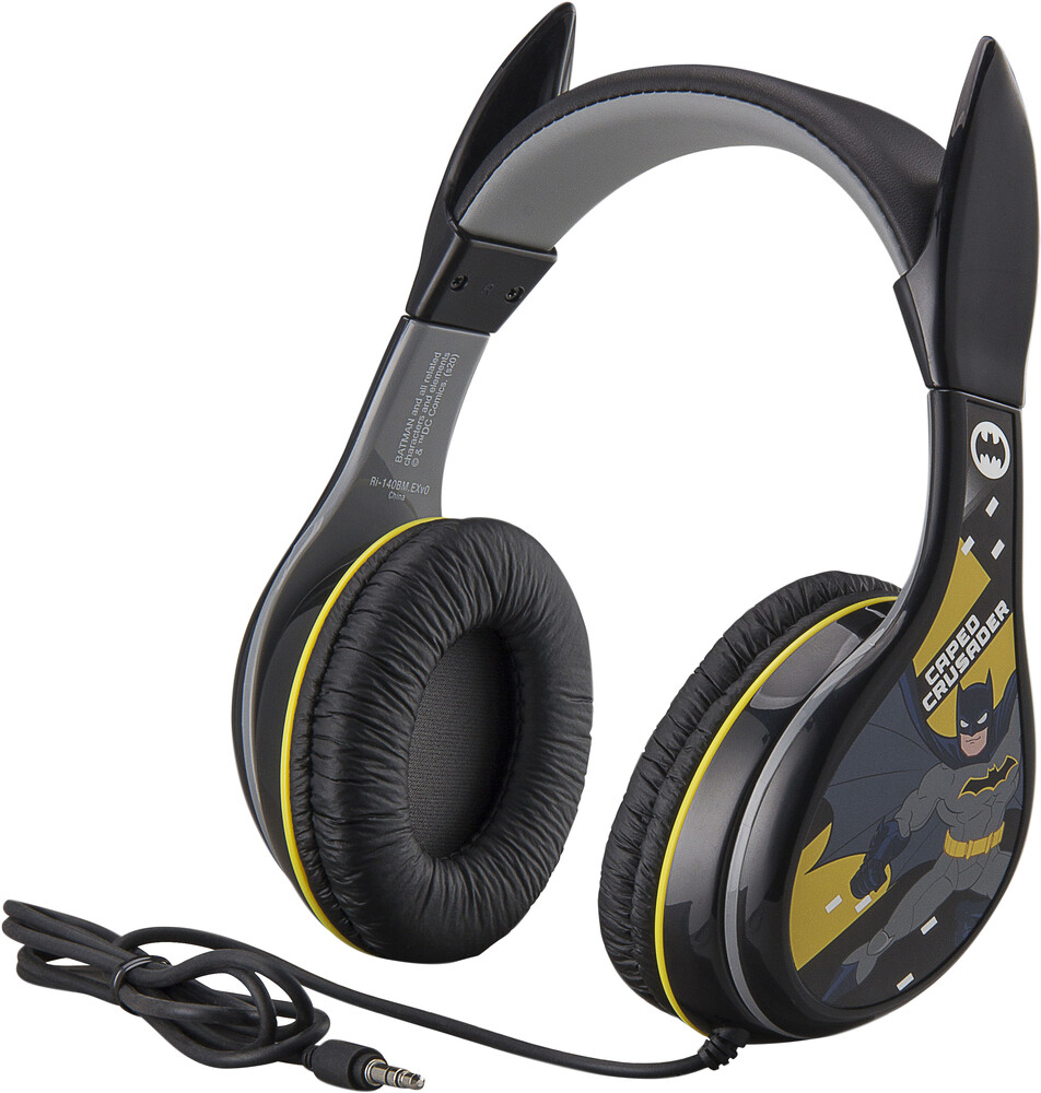 Batman Ri-140Bm.Exv0 Batman Headphones Black - Batman RI-140BM.EXV0 Batman Headphones On Ear with Safety VolumeLimiter (Black)