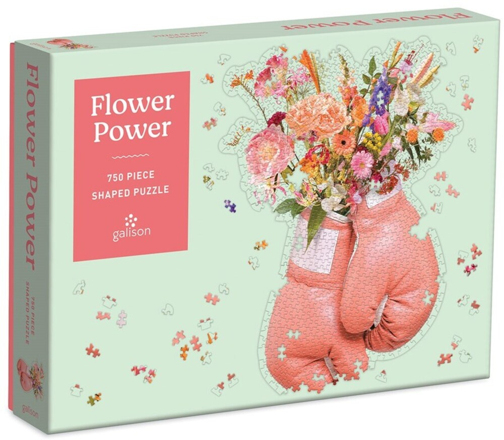 - Flower Power 750 Piece Shaped Puzzle