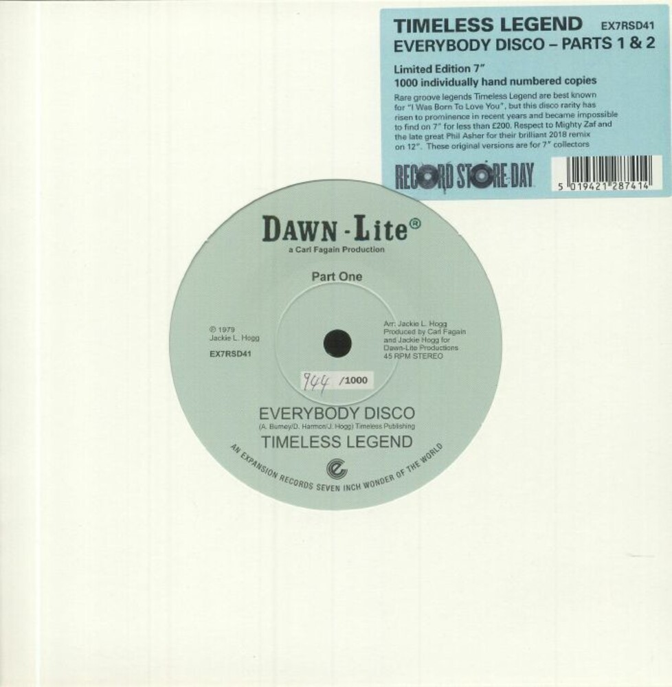 Timeless Legend - Everybody Disco Parts 1 & 2