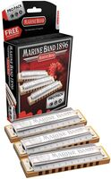 Hohner 3P1896Bx Marine Band 1896 Pro 3P Harmonicas - Hohner 3P1896BX Marine Band 1896 Pro 3 Pack Harmonicas Includes Keysof C, G, A