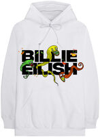 Billie Eilish - Billie Eilish BE Logo White Unisex Hoodie XL