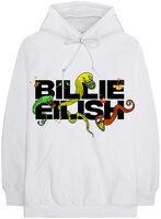 Billie Eilish - Billie Eilish BE Logo White Unisex Hoodie XL