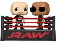 Funko Pop! Moment: - FUNKO POP! MOMENT: WWE- The Rock vs Stone Cold in Wrestling Ring