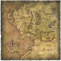 Other - WETA Workshop - Lord Of The Rings - Parchment Map of Middle-Earth (Art Print)