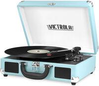 Victrola Vsc550Bttq Bt Suitcase Turntable Turqse - Victrola VSC-550BT-TQ Bluetooth Suitcase Turntable 3 Speed (Turquoise)
