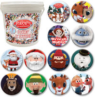 144 Unit Rudolph Bucket O' Buttons - Rudolph The Red Nosed Reindeer 144 PC Bucket O' Buttons