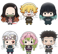 Megahouse - Megahouse - Demon Slayer Kimetsu Chokorin Mascot Series 3 6Pc Set