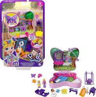 Polly Pocket - Mattel - Polly Pocket Big Pocket Butterfly Backyard Compact