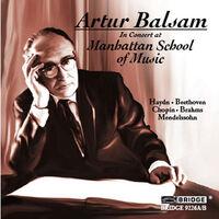 Artur Balsam - Artur Balsam in Concert at Manhattan School of Music