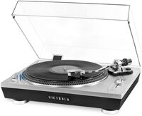 Victrola Vpro2000slv Pro Bt Usb Turntable Silver - Victrola VPRO-2000-SLV Professional Series Bluetooth Wireless USB Turntable 2 Speed Belt Drive (Silver)