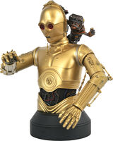 Diamond Select - Diamond Select - Star Wars The Rise Of Skywalker C3PO & Babu Frik 1/6Bust