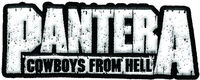 Pantera Cowboys From Hell Logo Embroidered Patch - Pantera Cowboys From Hell Logo Embroidered 2X3 Patch