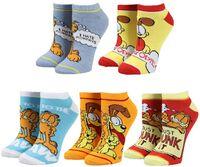 Garfield 5 Pack Ankle Socks Womens Shoe Size 5-10 - Garfield 5 Pack Ankle Socks Womens Shoe Size 5-10
