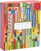 Wright, Frank Llyod - Frank Lloyd Wright Saguaro Cactus And Forms Foil Stamped 1000 Piece Puzzle