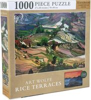 Wolfe, Art - Jigsaw Puzzle Art Wolfe Photographer: Rice Terraces, 1,000 Pieces, 20x 27 - with Exclusive Book