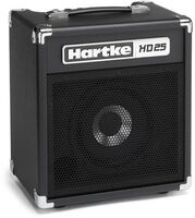 Hartke Hd25 Bass Guitar Combo Amp 25W Black - Hartke HD25 HMHD25 Bass Guitar Combo Amp 25 Watt Inlcudes HeadphoneOutput and Aux Input (Black)