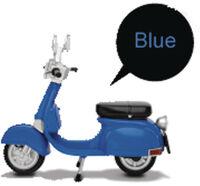 Beast Kingdom - Beast Kingdom - EAA-A03B Motorbike Classic Style Figure Acc BlueVersion