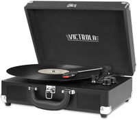 Victrola Vsc550Btbk Bt Suitcase Turntable Black - Victrola VSC-550BT-BK Bluetooth Wireless Suitcase Turntable 3 Speed    (Black)