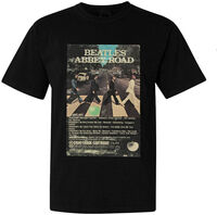 The Beatles - The Beatles Abbey Road 8 Track Tape Cover Art Black Unisex Short Sleeve T-Shirt XL