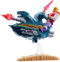 "Masters Of The Universe - Mattel Collectible - Masters of the Universe Origins 5.5"" Sky Sled and Prince Adam (He-Man, MOTU)"