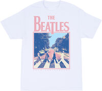 The Beatles - The Beatles Abbey Road 50th Anniversary White Unisex Short Sleeve T-Shirt Large