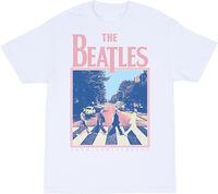 The Beatles - The Beatles Abbey Road 50th Anniversary White Unisex Short SleeveT-Shirt XL