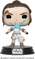 Funko Pop! Star Wars: - FUNKO POP! STAR WARS: SWEp9- Rey w/2 Light Sabers