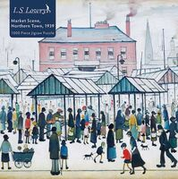 Flame Tree Studio - Adult Jigsaw Puzzle L.S. Lowry: Market Scene, Northern Town, 1939:1000-piece Jigsaw Puzzle