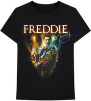 Freddie Mercury - Freddie Mercury Feathers Black Unisex Short Sleeve T-shirt 2XL