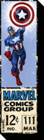 Captain America 12 Cent Funky Chunky Magnet - Captain America 12 Cent Funky Chunky Magnet
