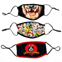 Looney Tunes Adult Adjustable Face Covers 3 Pack - Looney Tunes Adult Size Adjustable Face Covers 3 Pack
