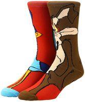 Looney Tunes Roadrunner Character Crew Socks 8-12 - Looney Tunes Roadrunner 360 Character Crew Socks Men's Shoe Size 8-12