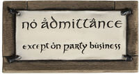 Other - WETA Workshop - Lord Of The Rings - No Admittance Sign (Magnet)