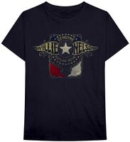 Willie Nelson - Willie Nelson Genuine Outlaw Music Outlaw Wings Black Unisex ShortSleeve T-shirt Large