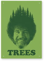 Bob Ross Trees 8 X 11 Tin Sign - Bob Ross Trees 8 x 11 Tin Sign