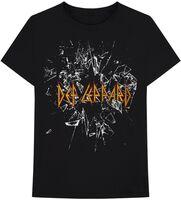 Def Leppard - Def Leppard Shatter Logo Black Unisex Short Sleeve T-shirt XL
