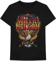 Willie Nelson - Willie Nelson Shotgun Willie Black Unisex Short Sleeve T-shirt Medium