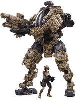 Dark Source Trading - Joy Toy Steel Bone H03 Sniper Desert Camo Mecha 1/