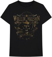 Willie Nelson Genuine Outlaw Music Blk Ss Tee M - Willie Nelson Genuine Outlaw Music Black Unisex Short Sleeve T-shirtMedium