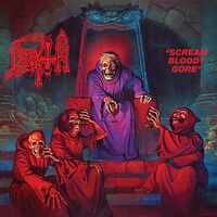 Death - Scream Bloody Gore [Clear with Blood Red Pinwheels with Heavy Aqua Blue, Neon Violet & Bone White Splatter LP]