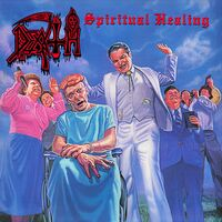 Death - Spiritual Healing [Clear with Cyan Blue Pinwheels with Heavy Blood Red, Black & White Splatter LP]